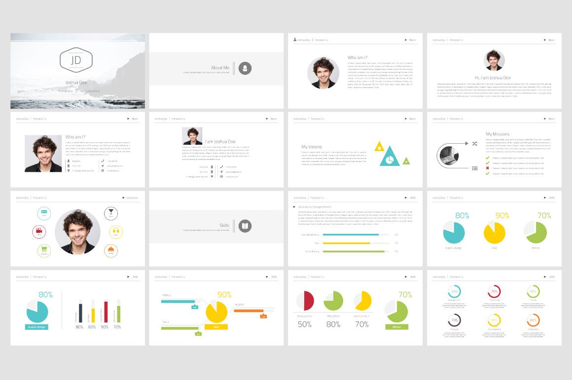 Personal Cv Powerpoint Template Powerpoint Templates Presentation Templates Powerpoint