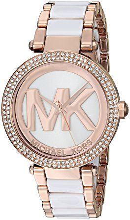 Michael Kors Women's Quartz Stainless Steel Automatic Watch, Color:Rose Gold-Toned (Model: MK6365) - 39-mm stainless steel case with mineral dial window; Refined Rose Gold-Tone watch featuring a Three Hand movement; Analog-quartz Movement; Case Diameter: 39mm; Water Resistant To 100m (330ft): In General, Suitable for Swimming and Snorkeling, but not Diving.(affiliate link)