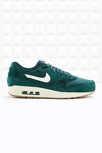 reputable site 1bfca 4cf51 Nike Air Max 1 Essential Suede Trainers in Green