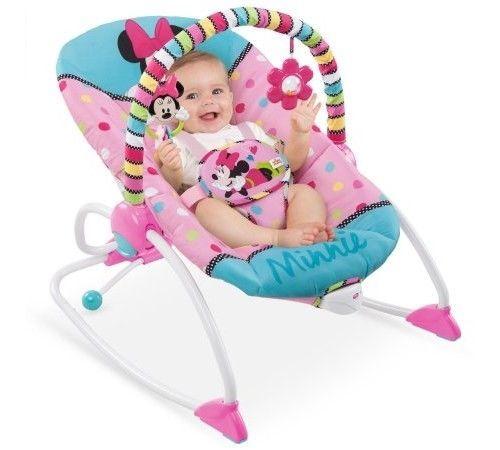 Disney Baby Minnie Mouse Peekaboo Infant To Toddler Rocker Girls Basket Bouncer #Disney