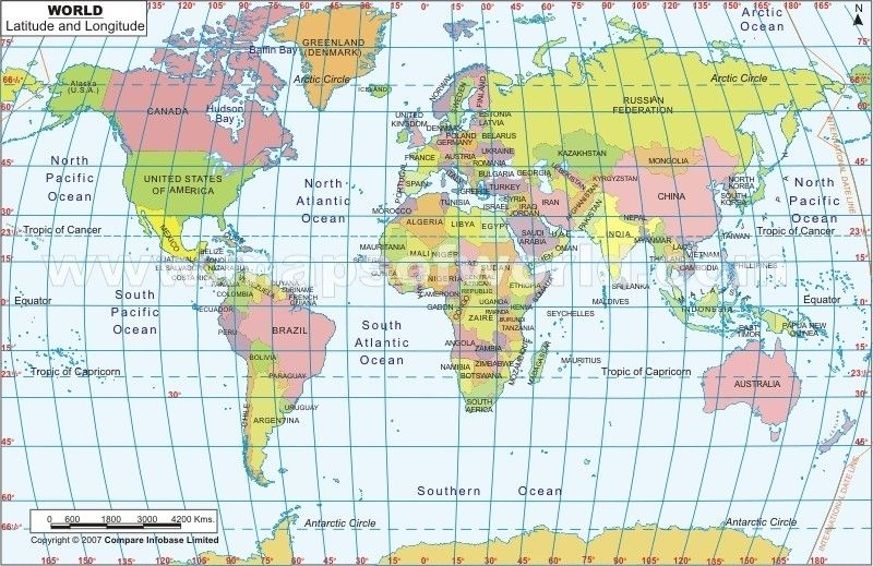 Longitude Map Usa world map with longitude and latitude pict map of ...