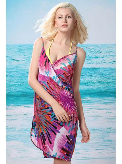 Splash of Color Open Back Cover-up Dress