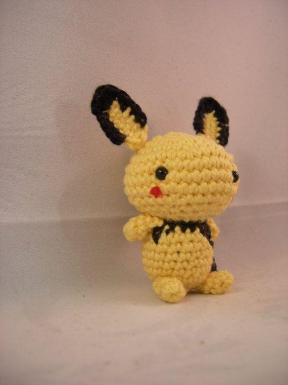 Pichu - pokemon crochet amigurumi | зайцы,кролики | Pinterest ...