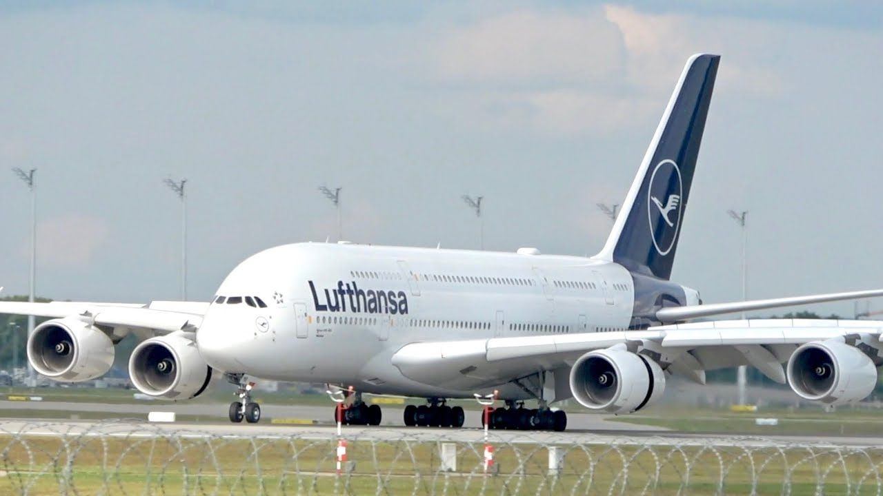 Lufthansa Airbus A380841 NEW Livery DAIMB arrival at
