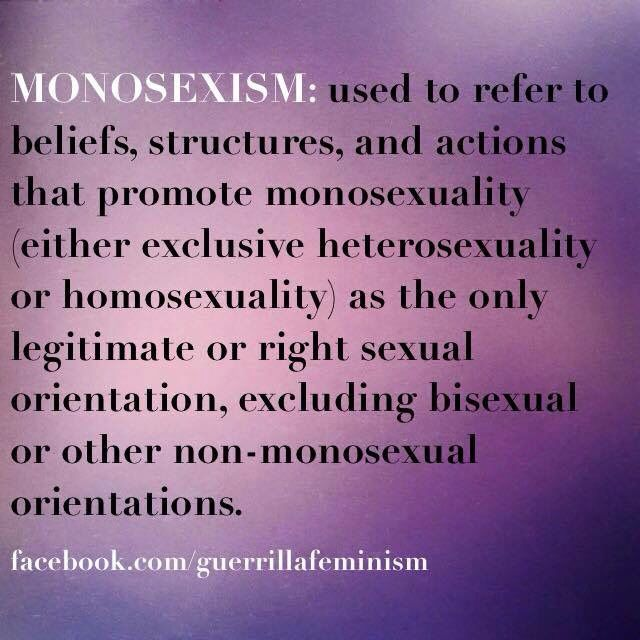 Monosexual definition
