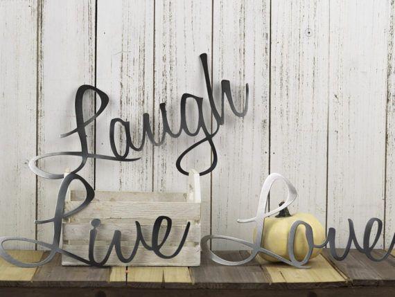 Live Laugh Love Wall Decor | Patio Decor | Lake House Decor | Metal ...