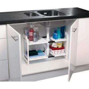Buy Addis Under Sink Storage Unit - White at Argos.co.uk - Your Online Shop for Kitchen organisers.  sc 1 st  Pinterest & Buy Addis Under Sink Storage Unit - White at Argos.co.uk - Your ...