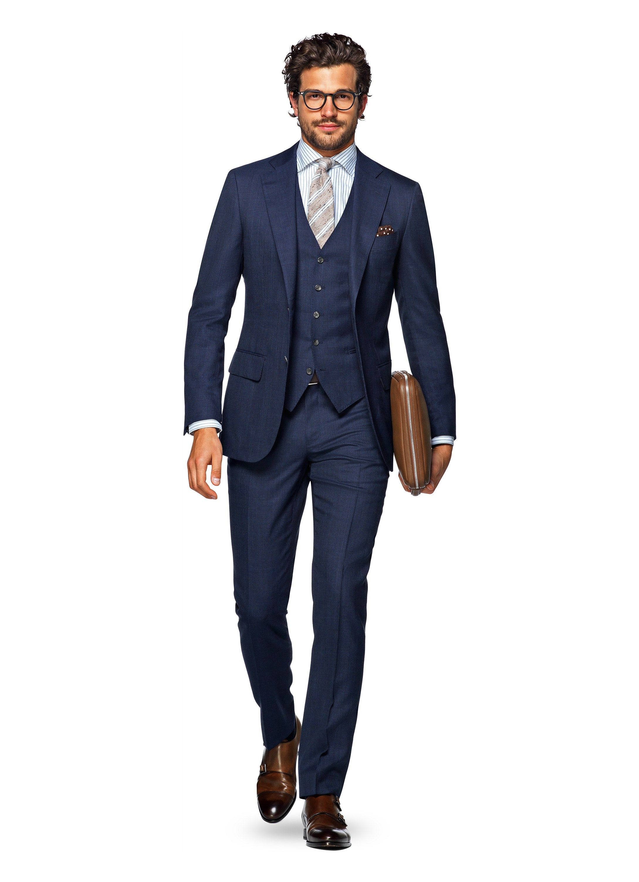 Suit Blue Check Lazio P4860 | Suitsupply Online Store | Suits ...