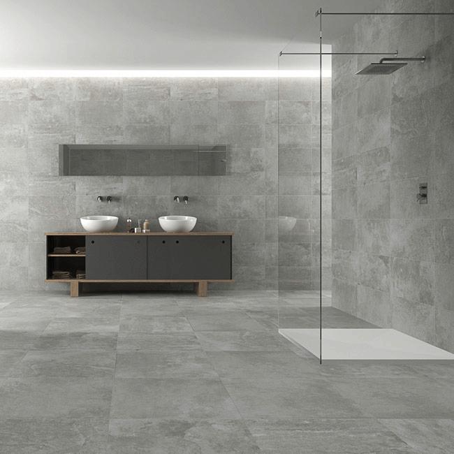 Bathroom Concrete Tiles Concrete Bathroom Contemporary Bathroom Bohemian Style Bedrooms