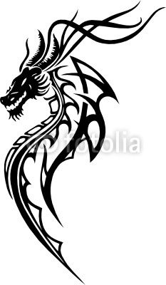 Drache Tribal Tattoo Lackierungen Pinte