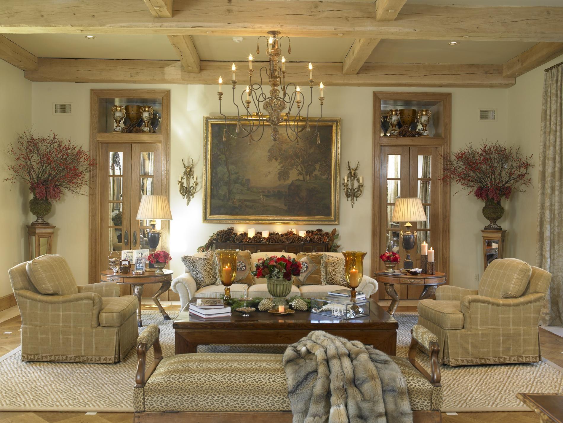 Interior Design ~ Rinfret Ltd~ Country Style Living Room Custom Interior Decorated Living Rooms Design Ideas