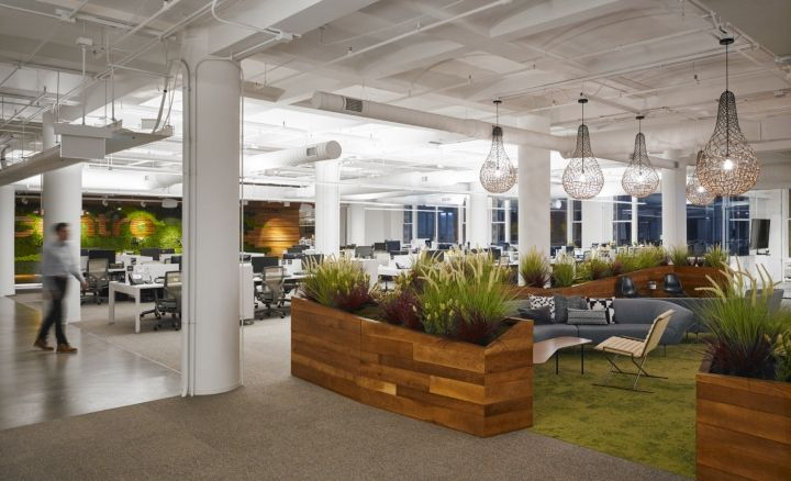 greenery office interiors. perfect interiors centro office by partners design chicago u2013 illinois in greenery office interiors