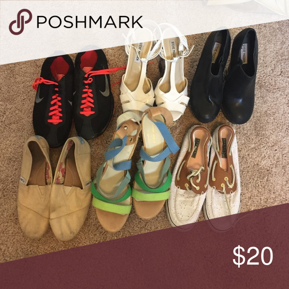 Chip Deseo Glamour  5 shoe bundle!! All size 7 or 6.5. Brands like toms, sperry, Steve Madden,  Nine West and no more nike!!!! Nine West Sho… | Nine west shoes, Sperrys