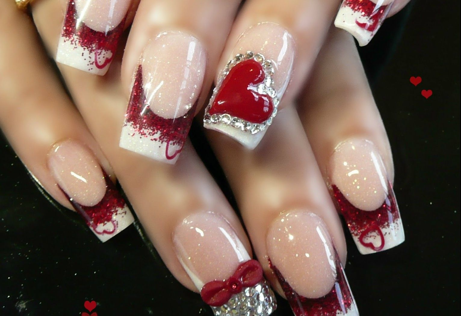 Shape and color fade   Nails   Pinterest   Acrylic nail designs ...
