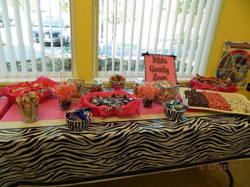 Candy buffet for my daughters 1st birthday. Fun alternative to a piñata!!