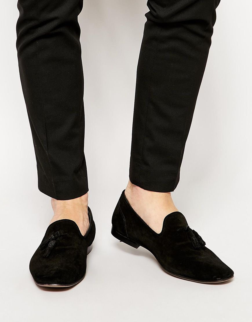 Image 1 of ASOS Tassel Loafers in Suede