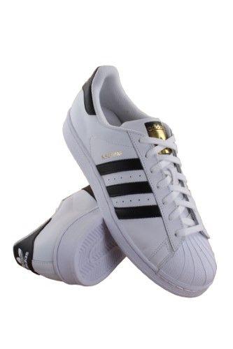C77124 Uomini Bianco Bianco / Nero / Bianco Uomini Adidas Superstar, Numero 13, Bianco / C f7c772