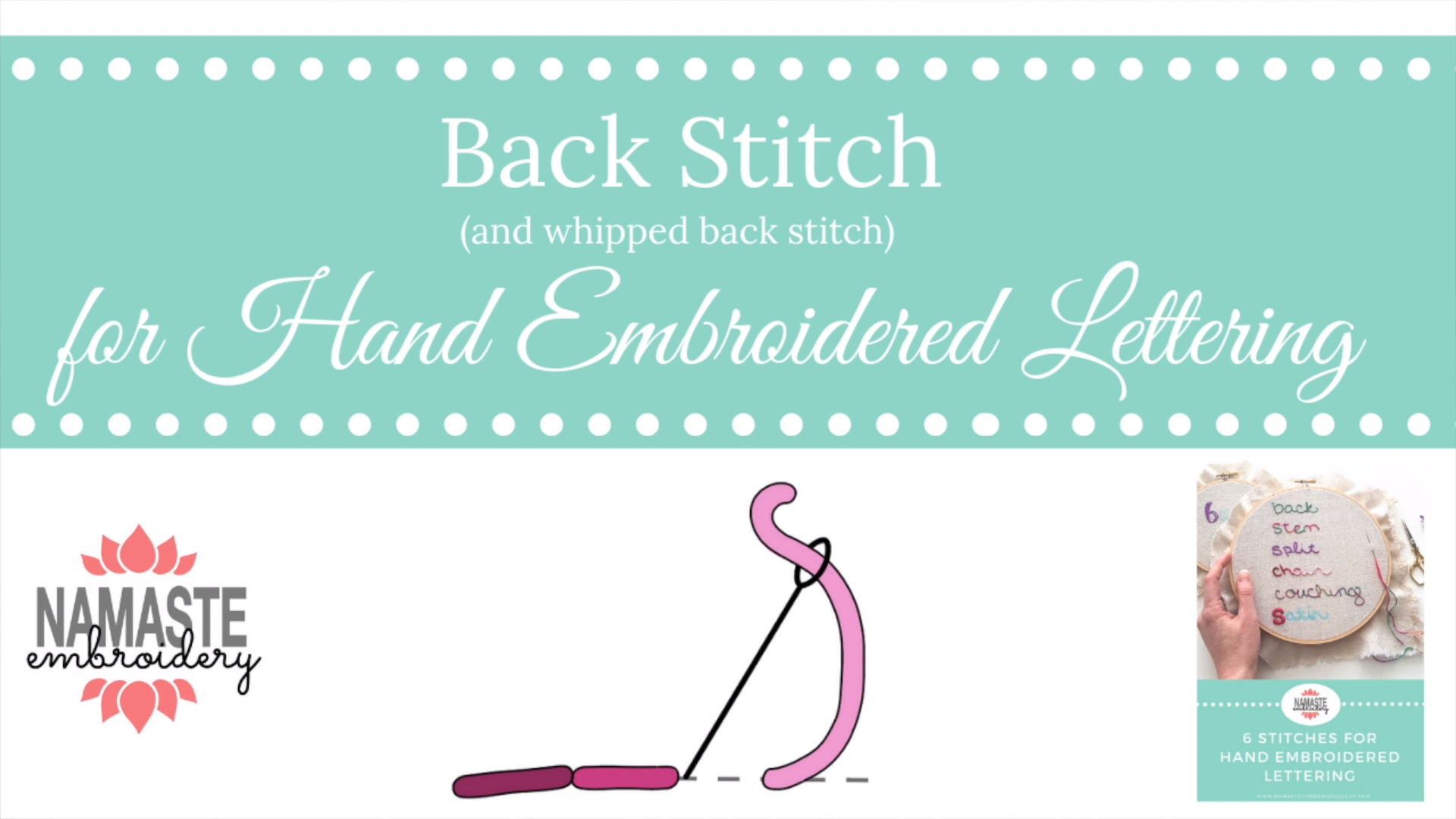 Photo of Back Stitch for Hand Embroidery Lettering (Video)