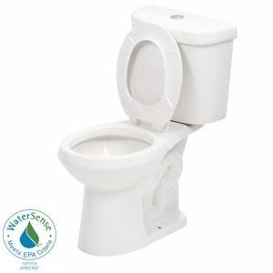 Awe Inspiring Glacier Bay 2 Piece 1 1 Gpf 1 6 Gpf Dual Flush Round Toilet Theyellowbook Wood Chair Design Ideas Theyellowbookinfo