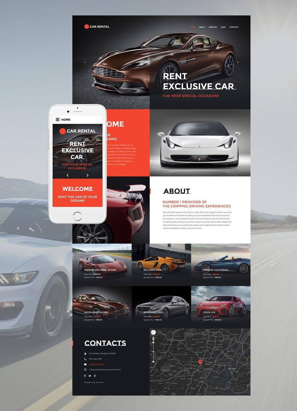 Car Rental Website Template Car Rental Car Rental Website