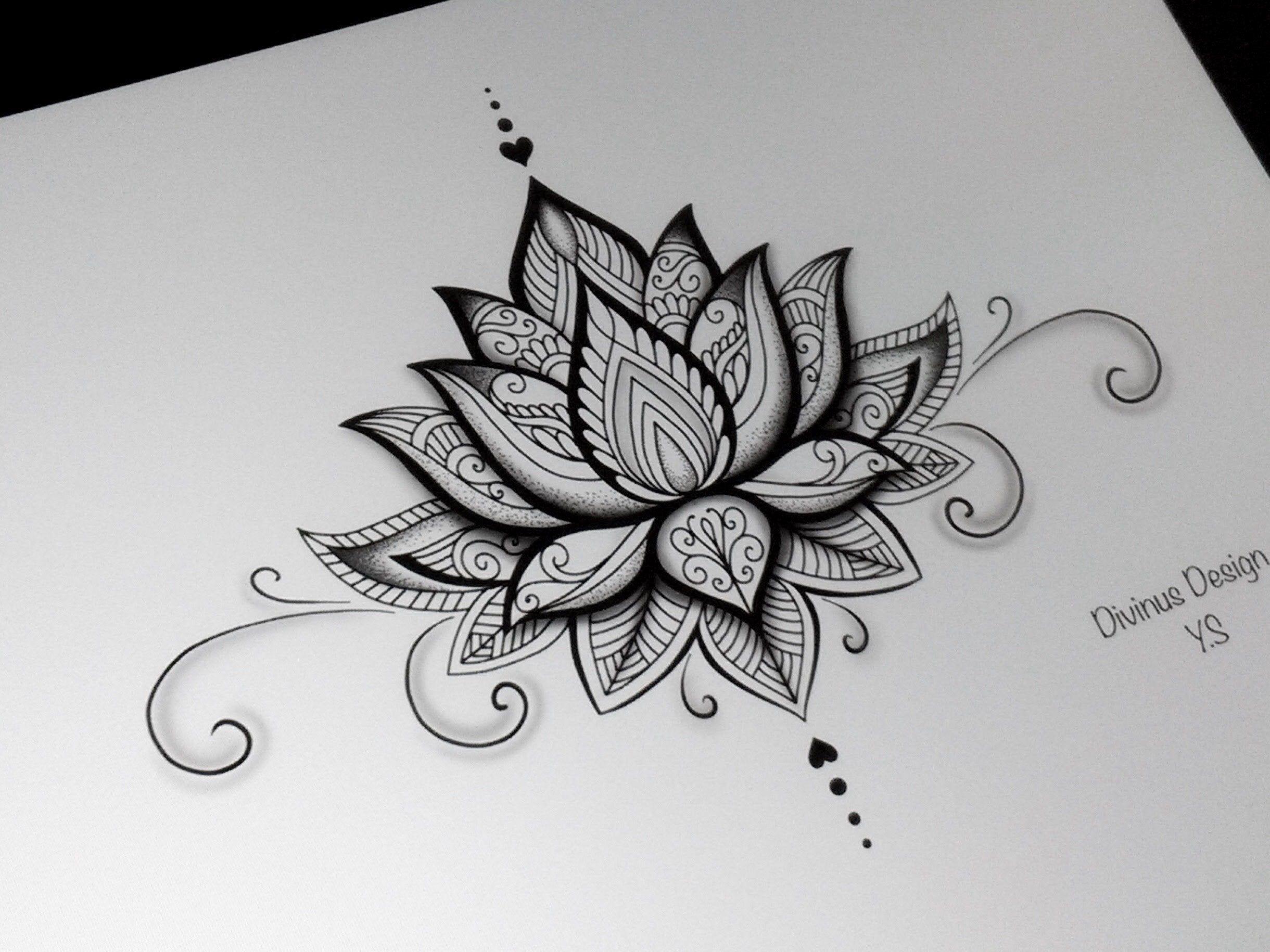 Lotus Mandala Tattoo Design And Stencil Template Instant Digital Download Lotus Mandala Tattoo Mandala Tattoo Design Tattoos