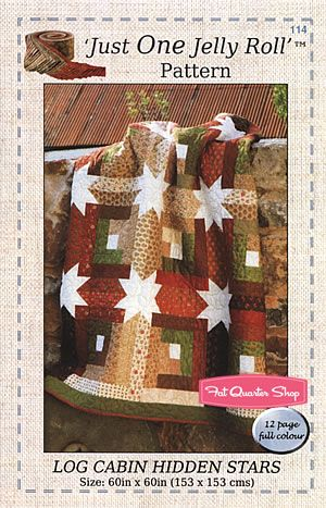 Log Cabin Hidden Stars Quilt Pattern The Quilt Room Patterns Fat