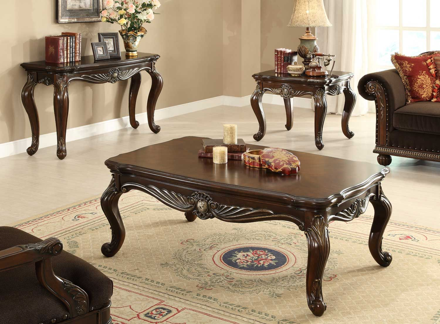 Homelegance Catalina Ii Cocktail Table Set Wood Sofa Table Coffee Table Table [ 1105 x 1500 Pixel ]