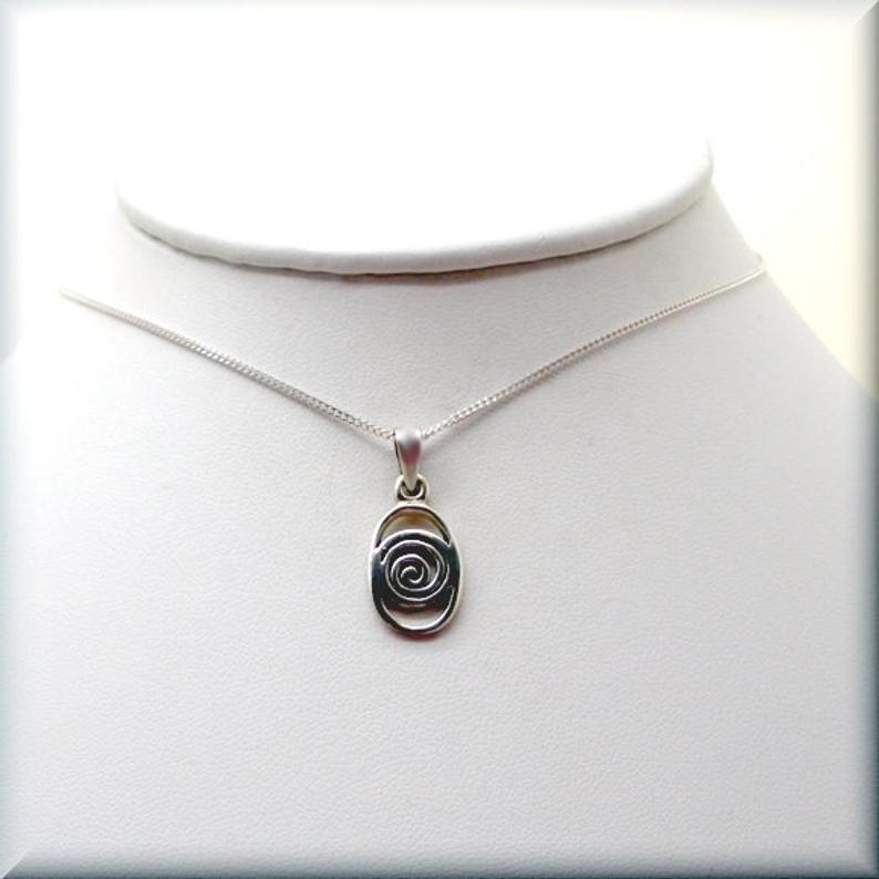 Celtic Silver Pendant Silver pendant necklace Silver Jewellery Celtic Spirals Jewelry Silver Wire necklace Silver Jewellery UK