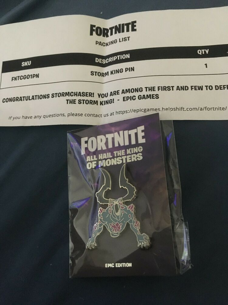 Fortnite Save The World Collectible Storm King Pin RARE