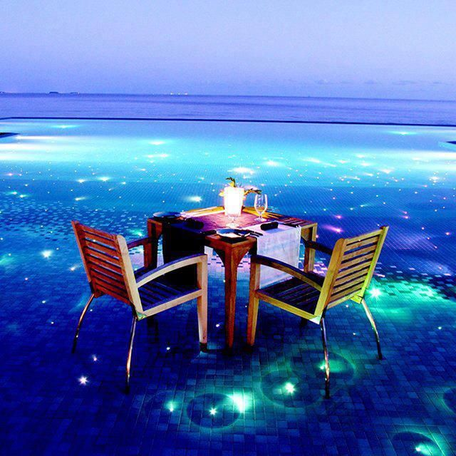 Bora Bora,Maldives in the night.