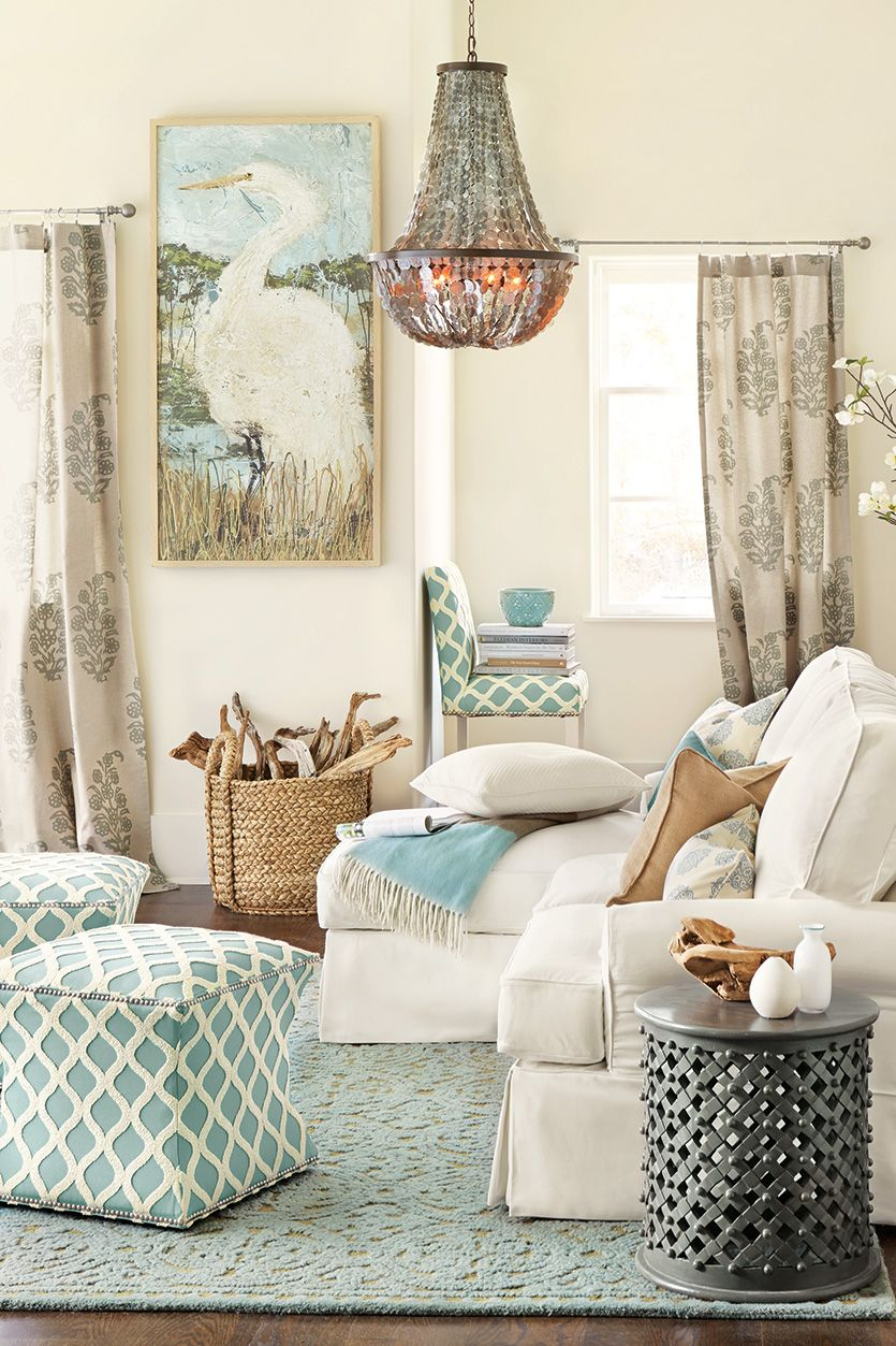 23 Living Rooms Without Coffee Tables  How to Decorate  Coastal