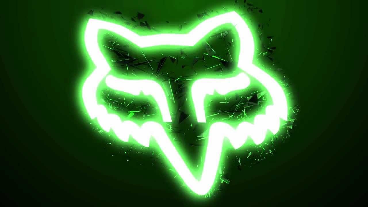 fox racing and monster energy logo kawasaki dirt bike