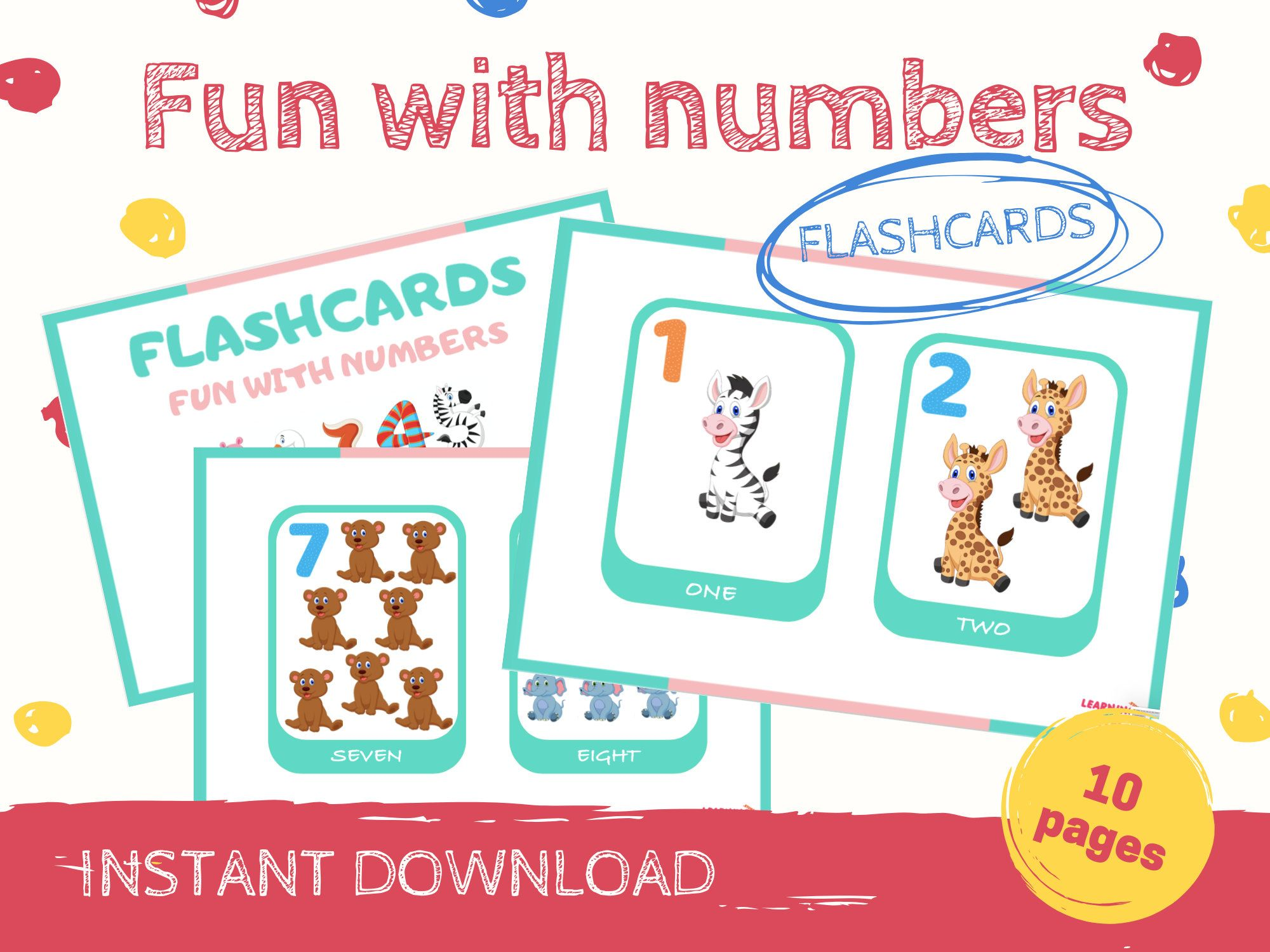 Numbers Flashcards Printable Flashcards For Toddlers