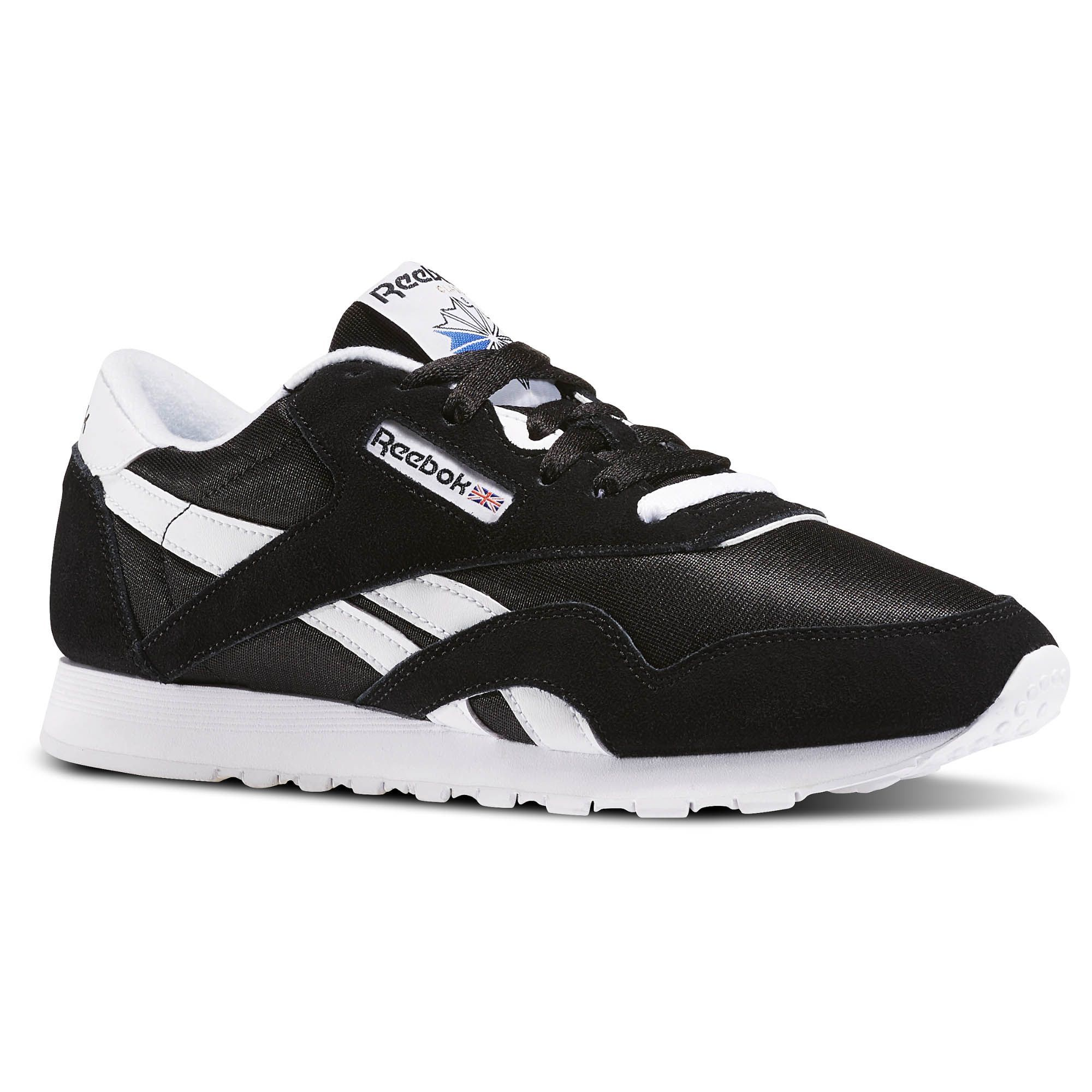 Reebok Shoes Women s Classic Nylon in Black White Size 10.5 ... f857af48a