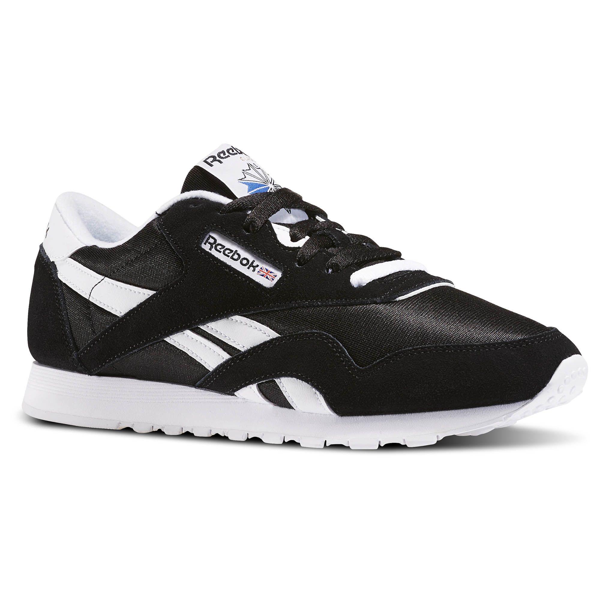 b7149f42661 Reebok Shoes Women s Classic Nylon in Black White Size 10.5 ...