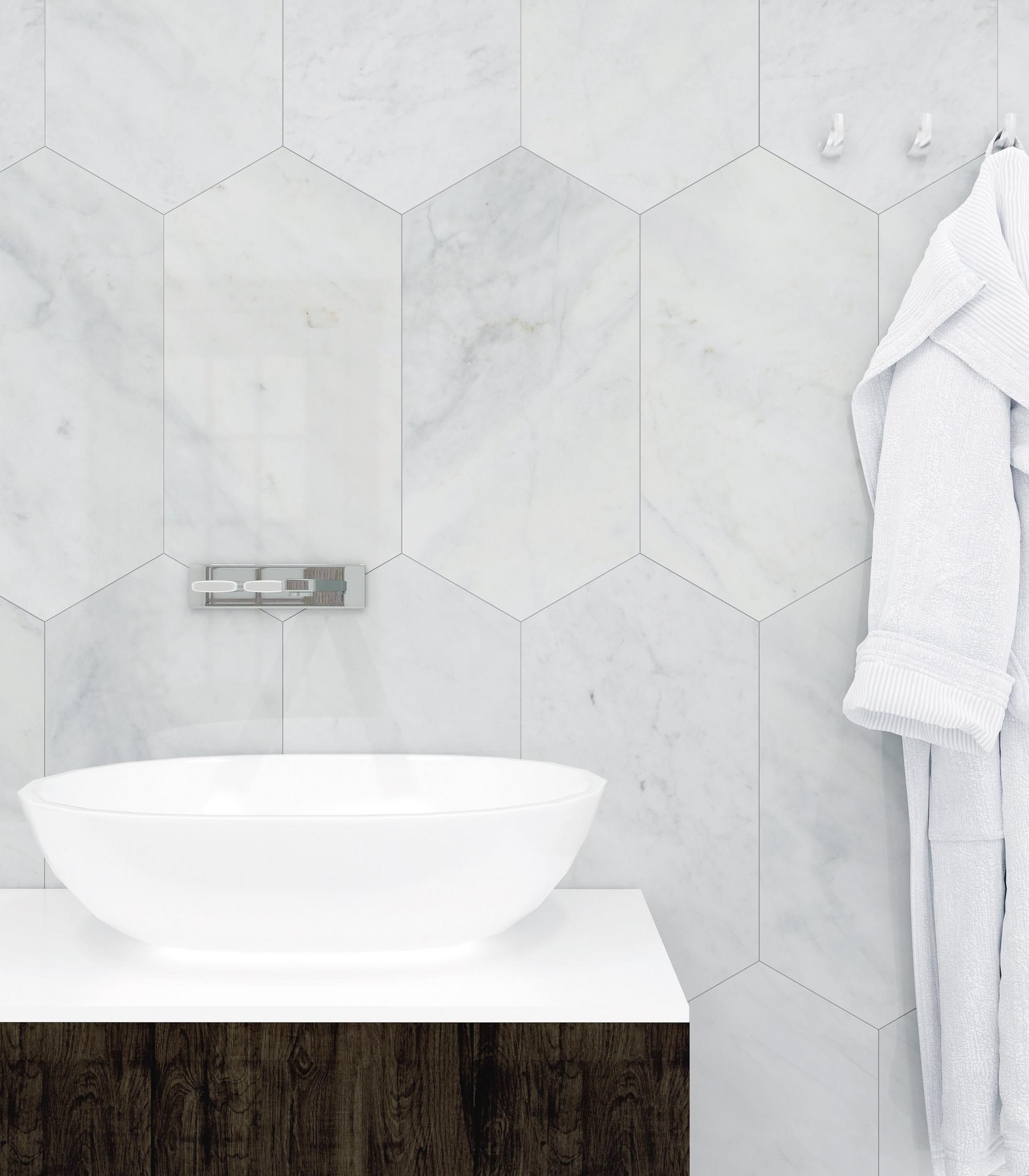 Bianco Blanco Oblong Marble Tile Marble Bathroom Bathroom Interior Design Floor Decor