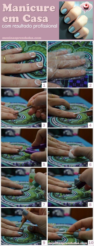 Manicure em casa com resultado profissional / manicure tutorial
