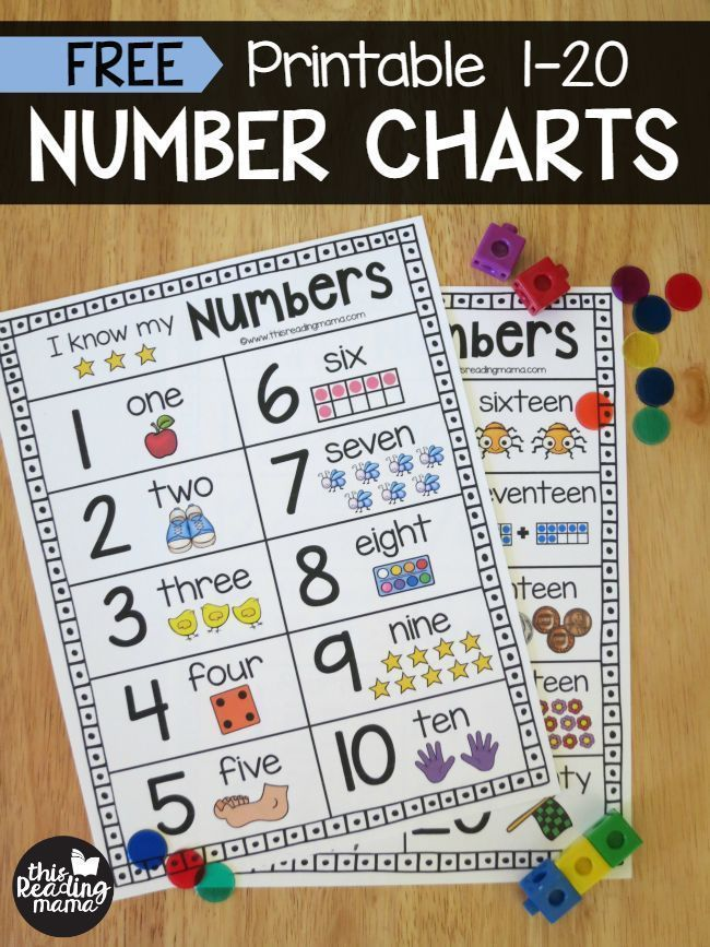 Impertinent image within printable number chart 1 20