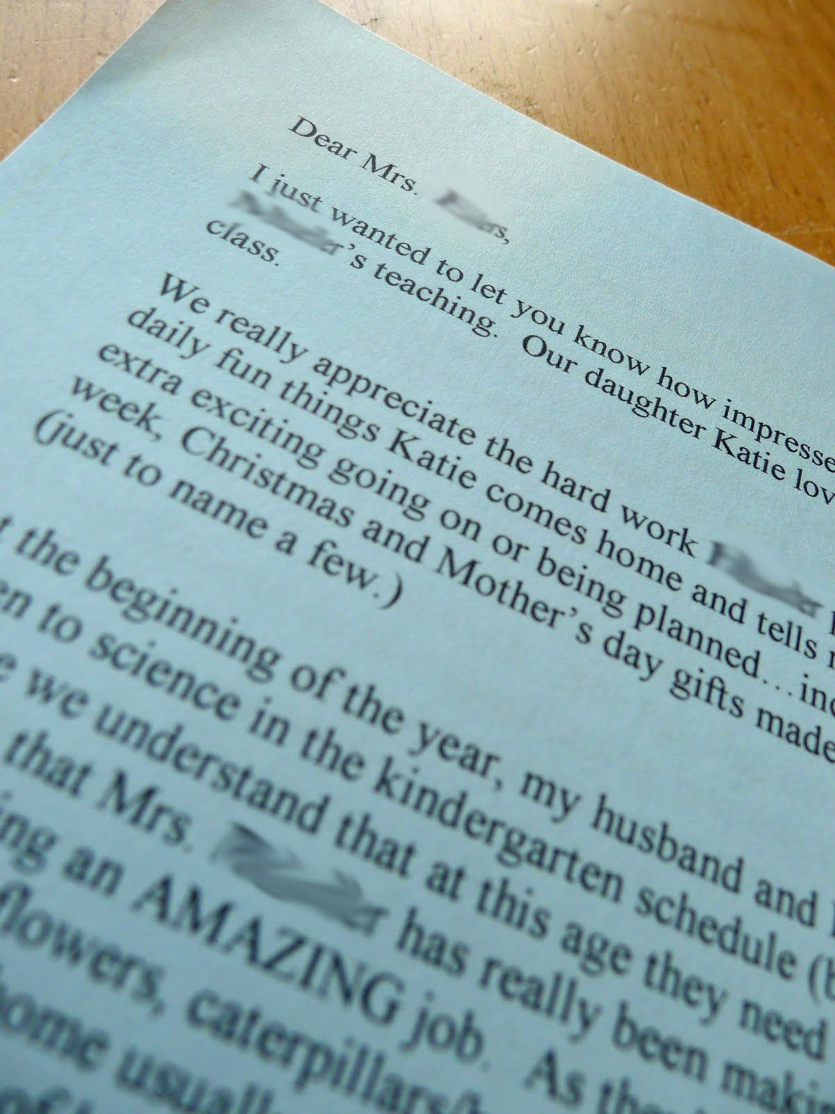 Teacherappreciation Write A Letter To The Principal Praising Your