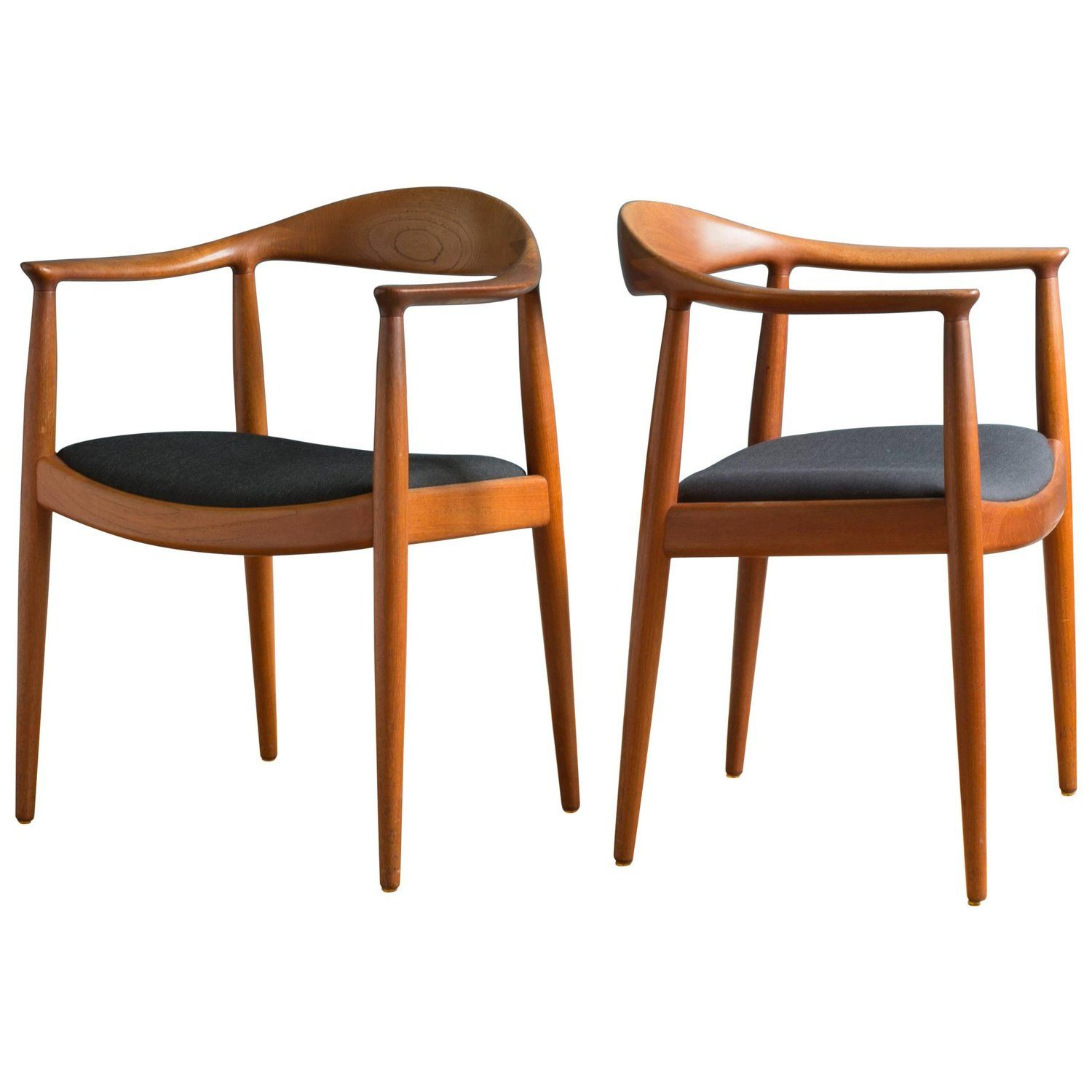 Pair Of Hans J Wegner The Chair In Teak For Johannes Hansen Chair Vintage Chairs Wegner Chair