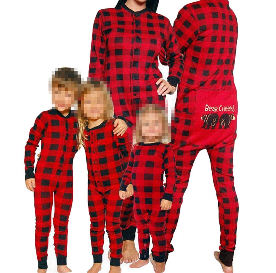 28db5fb8d3 Family Matching Red Plaid Christmas Onesie Pajama PJ Set Sleepwear  Nightwear Homewear Tag XL US L Dad   More info could be found at the image  url.