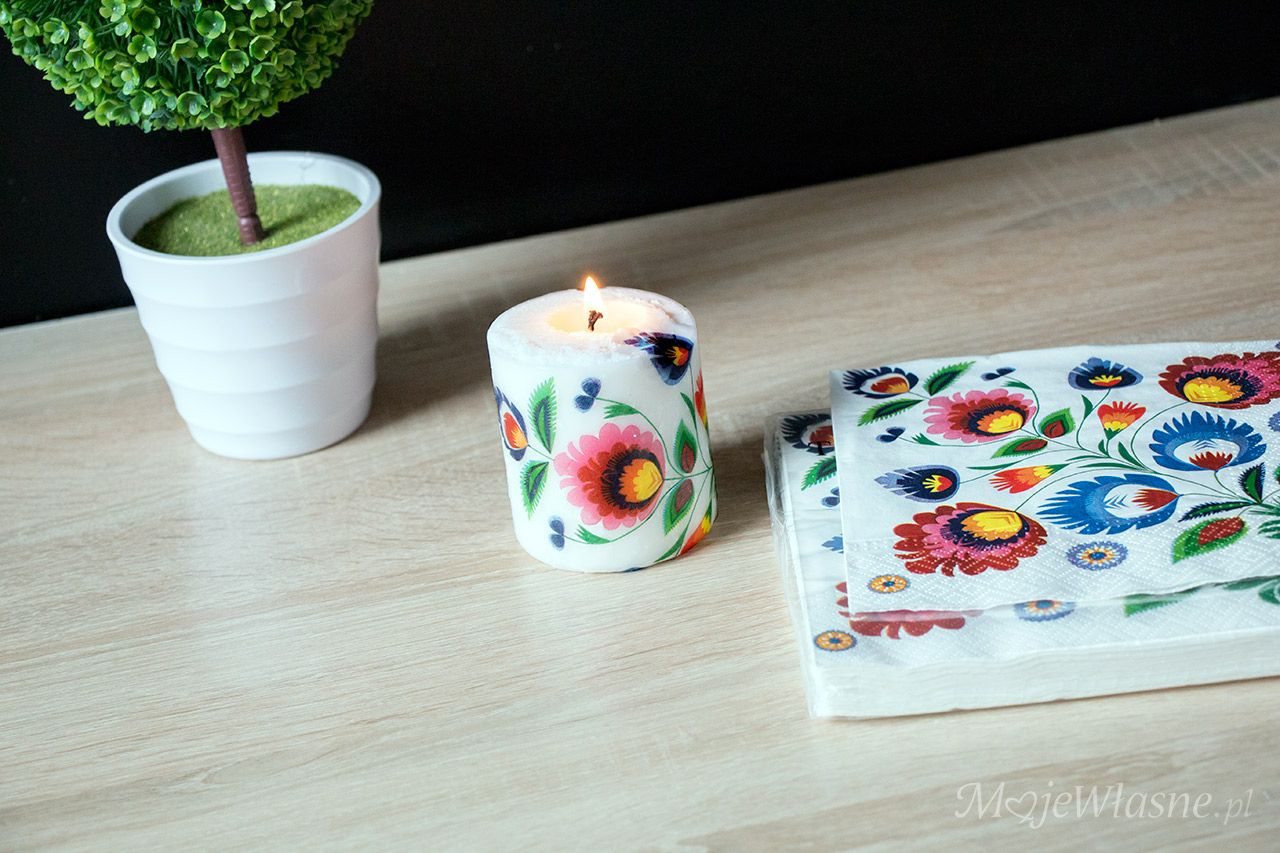 Decoupage Na Swiecy Diy Deco Candle Holders Candles