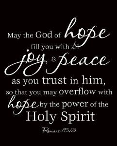 God of hope bible verse-Let your dreams bring you joy