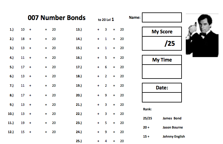 IVe Created A Series Of Number Bonds Workouts In The Style Of
