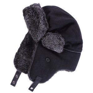 Ted Baker - Black Nailart Trapper Hat by Ted Baker
