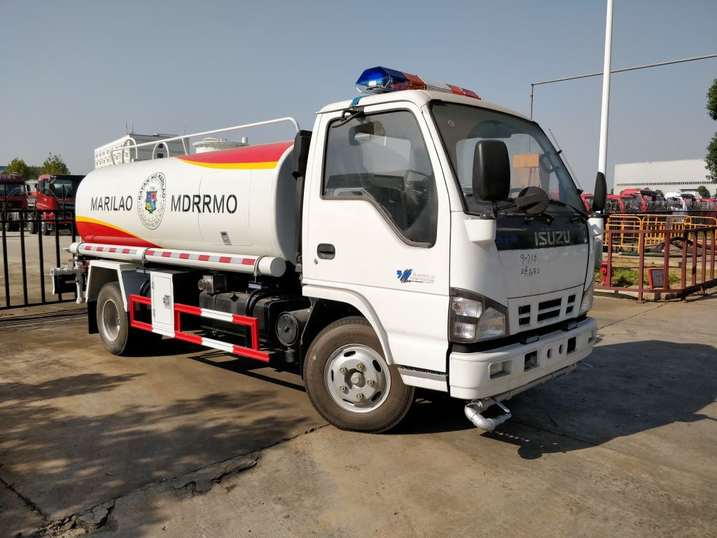 Water Spray Bowser Isuzu water tanker trucks 5cbm for sale