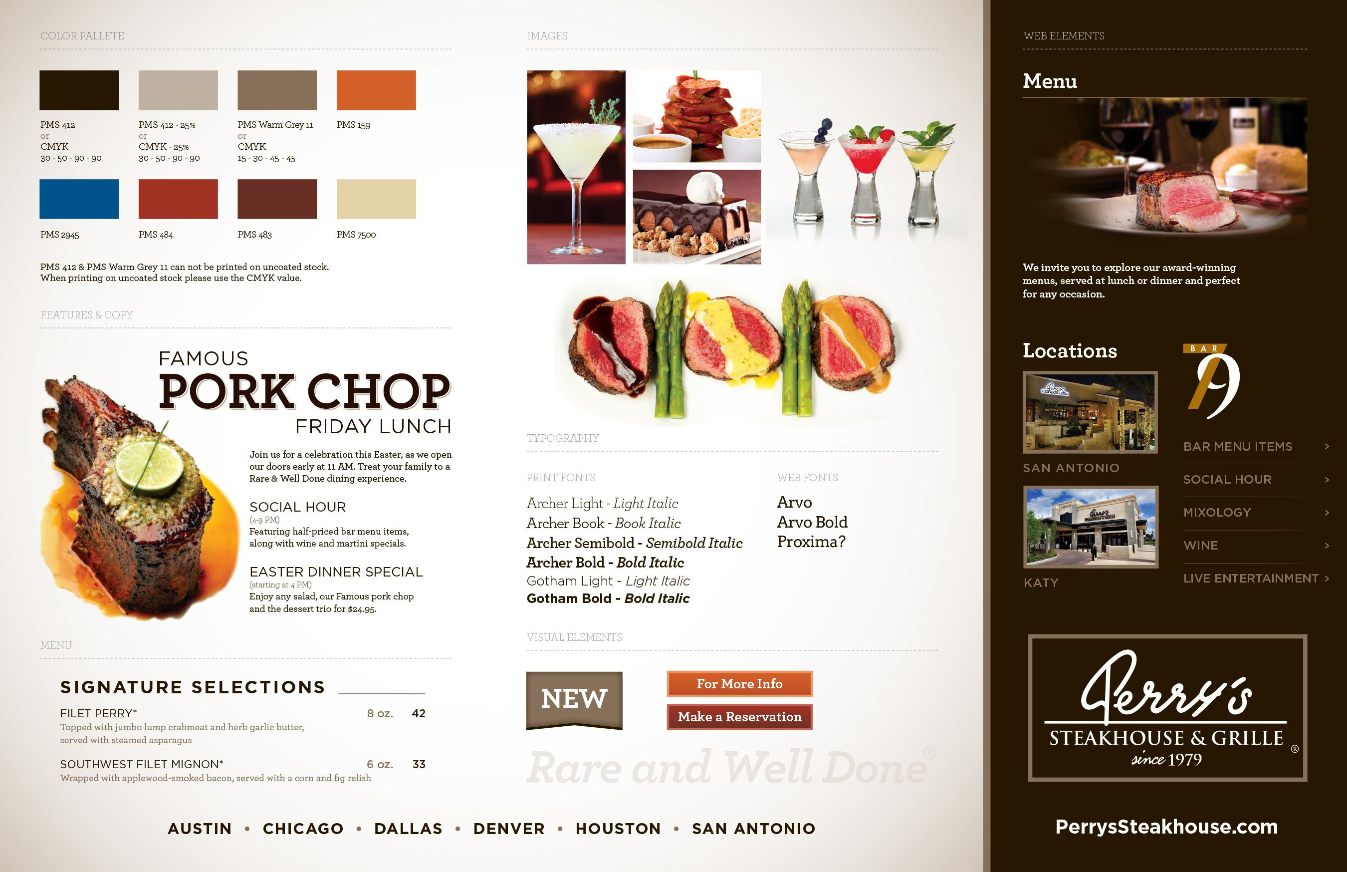 Perry's Steakhouse – Branding