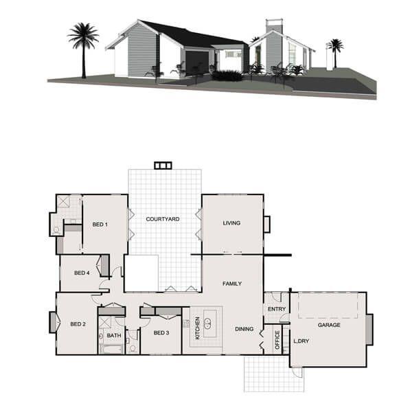 Penny Homes Home U Shaped House Plans Bungalow House Design Floor Plan Design