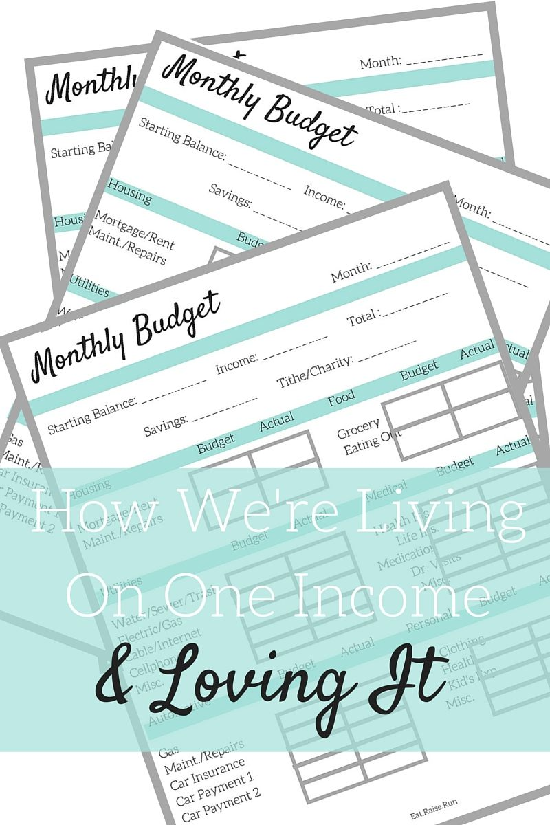 Living on One Income and Loving it