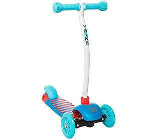 Little ones will love zooming around on this lean-and-steer scooter. A tri-wheel design with a wider rear wheel provides stability and balance, and an easy-to-use rear foot brake helps them come to a halt. From YBIKE.